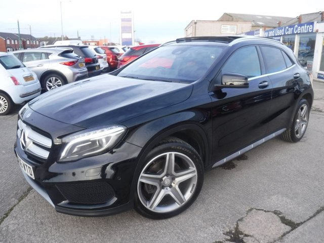 USED 2016 66 MERCEDES-BENZ GLA-CLASS 2.1 GLA 220 D 4MATIC AMG LINE PREMIUM PLUS 5d 174 BHP 1 OWNER*LEATHER*PANORAMIC ROOF*MERCEDES SERVICE HISTORY