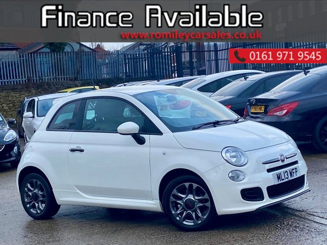 USED 2013 13 FIAT 500 1.2 S DUALOGIC 3d 69 BHP FULL SERVICE HISTORY - AUTOMATIC - CHEAP RUNNING COST