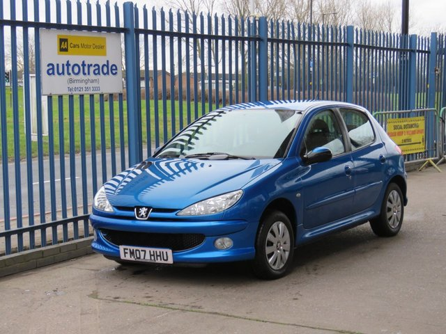 USED 2007 07 PEUGEOT 206 1.4 LOOK HDI 5d 68 BHP £30 Road Tax,Air Conditioning,CD Player