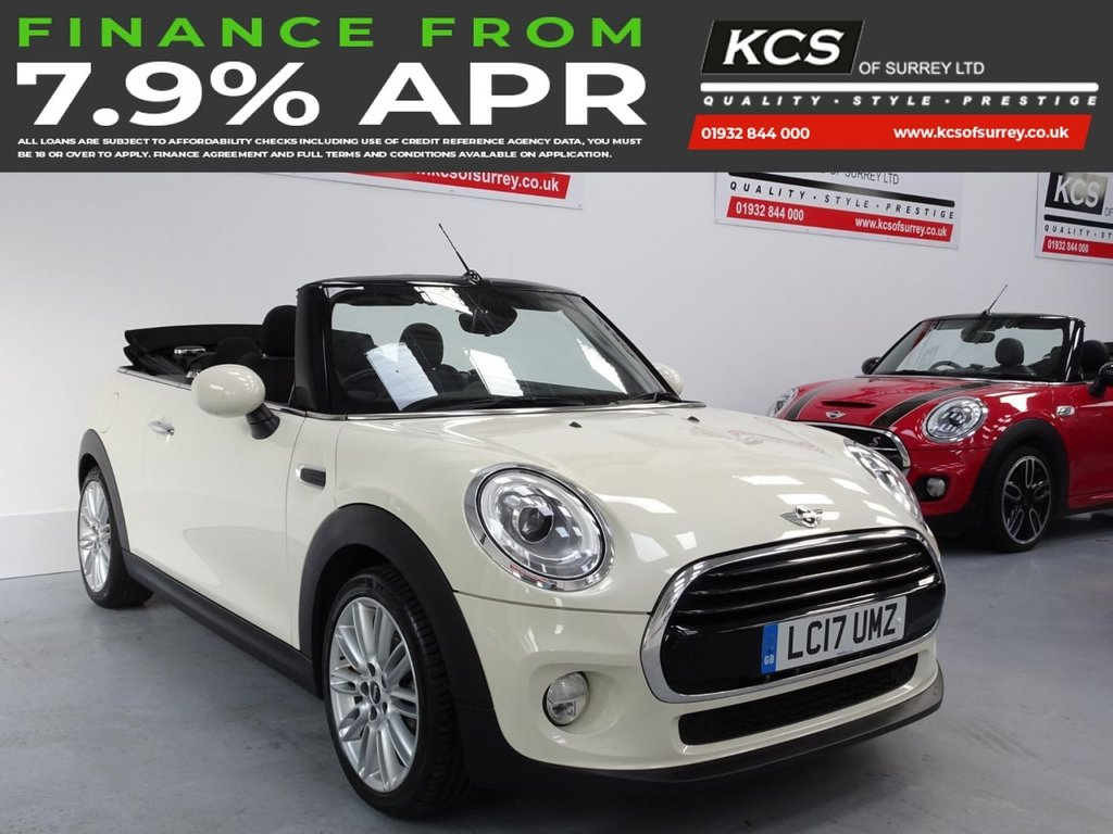 USED 2017 17 MINI CONVERTIBLE 1.5 COOPER 2d 134 BHP CHILI - CAMERA - VISUAL BOOST