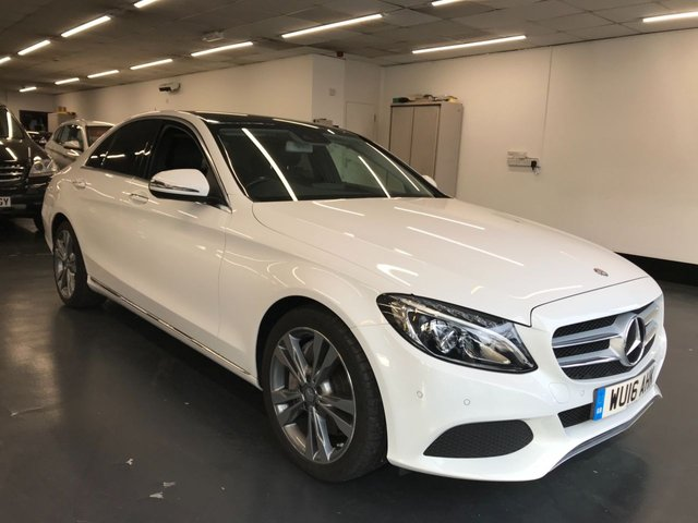 USED 2016 16 MERCEDES-BENZ C-CLASS 2.0 C350 E SPORT PREMIUM PLUS 4d 208 BHP Full Mercedes Benz service history, leather interior, privacy glass