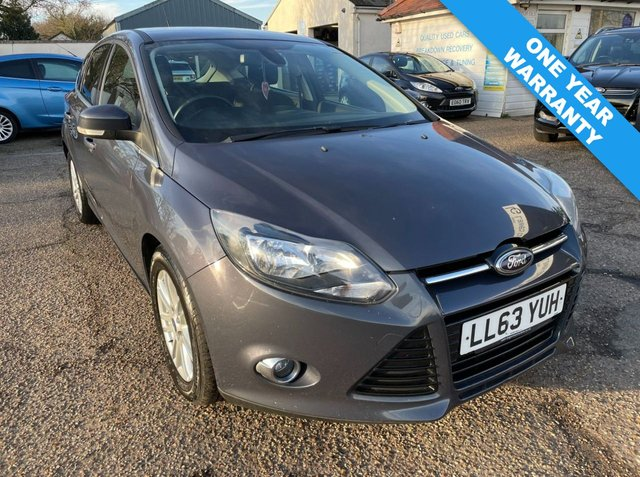 USED 2013 63 FORD FOCUS 2.0 TITANIUM TDCI 5d 139 BHP ONE YEAR WARRANTY INCLUDED / FULL MAIN DEALER SERVICE HISTORY