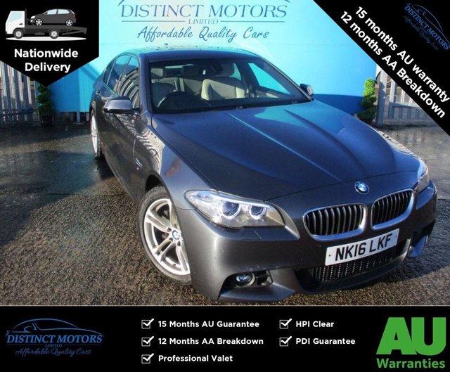 USED 2016 16 BMW 5 SERIES 2.0 520D M SPORT 4d 188 BHP
