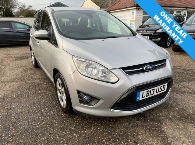 USED 2013 13 FORD C-MAX 1.6 ZETEC 5d 104 BHP ONE YEAR WARRANTY INCLUDED
