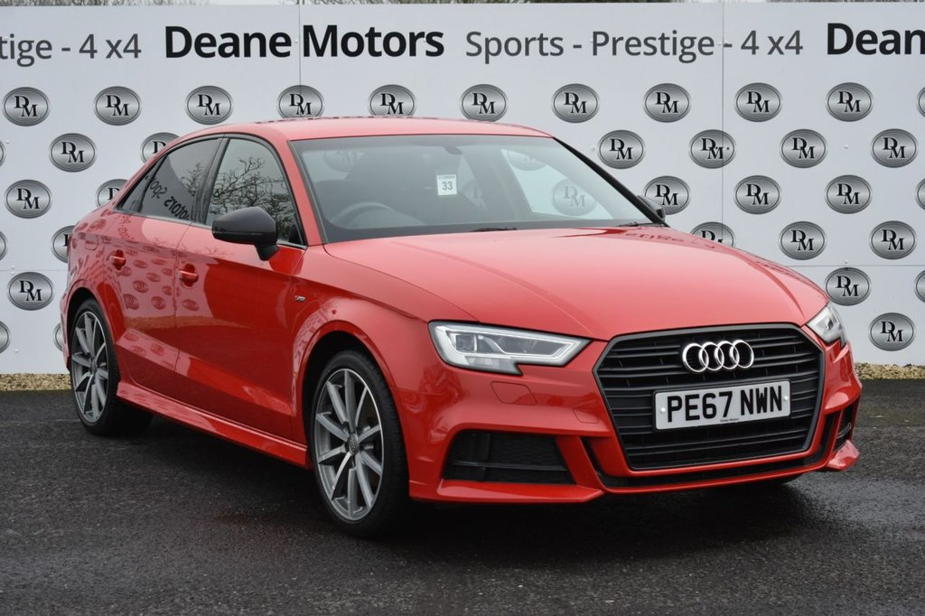 USED 2017 67 AUDI A3 1.6 TDI BLACK EDITION 4d 114 BHP STUNNING CAR