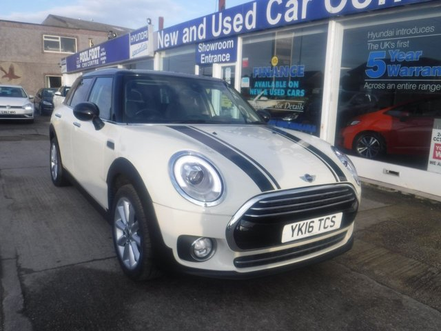 USED 2016 16 MINI CLUBMAN 1.5 COOPER 5d 134 BHP 1 OWNER*PART LEATHER*NAV*HEATED SEATS*PARKING SENSORS
