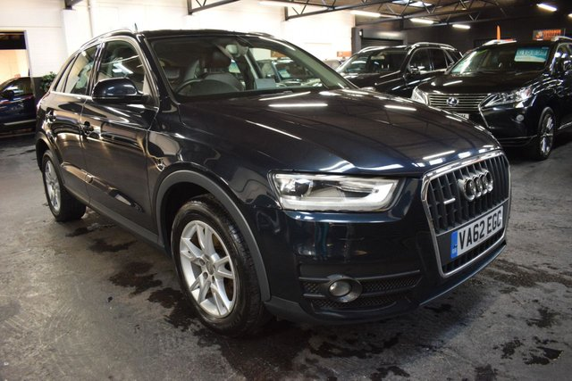 USED 2013 62 AUDI Q3 2.0 TDI QUATTRO 4X4 SE 5d 175 BHP AUTO  ONE OWNER - 4X4 QUATTRO - AUTO - S/H - FULLL LEATHER - SAT NAV - AUTO XENONS - 17 INCH ALLOYS - ELECTRIC FOLDING MIRRORS