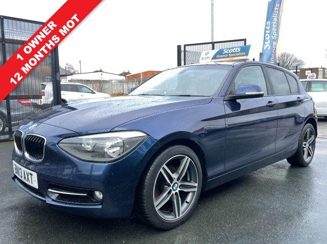 USED 2013 13 BMW 1 SERIES 2.0 116D SPORT 5 DOOR DIESEL BLUE 1 OWNER