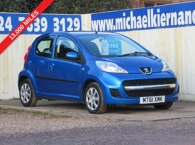 USED 2012 61 PEUGEOT 107 1.0 URBAN 5d 68 BHP IMMACULATE  CAR