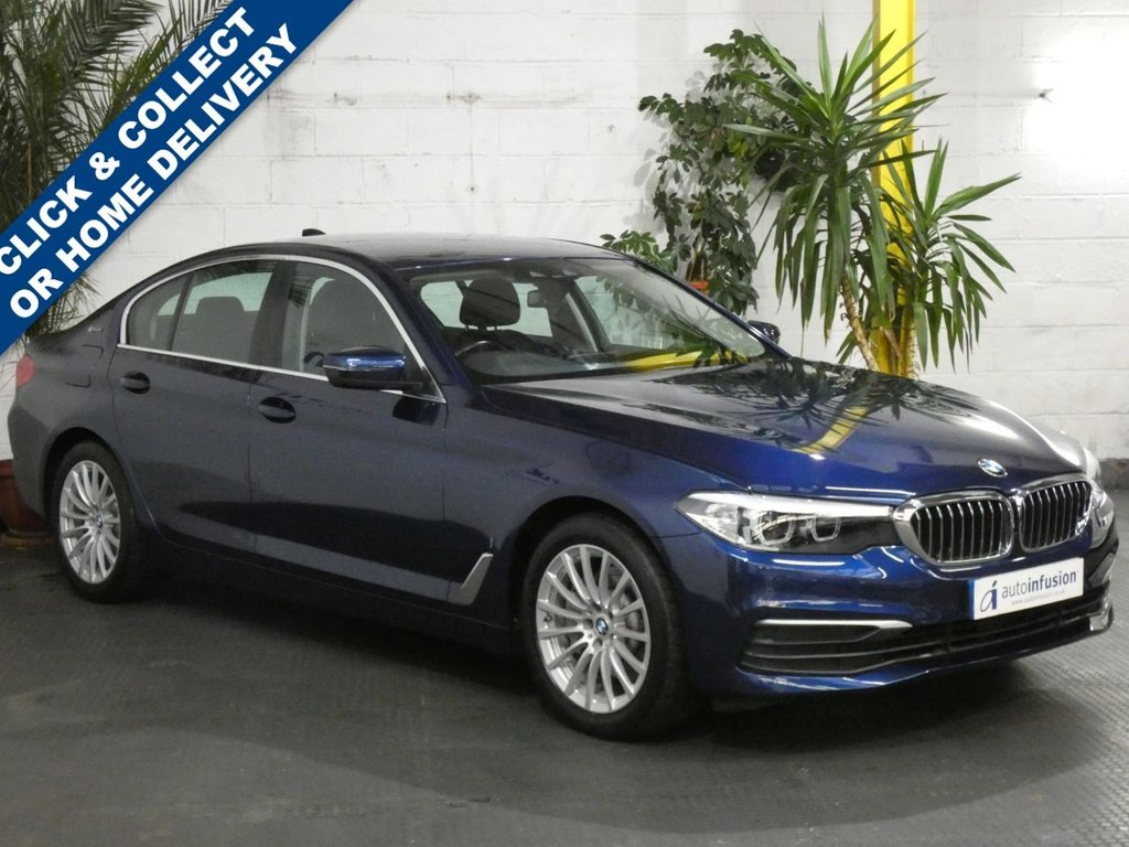 USED 2018 68 BMW 5 SERIES 2.0 530E SE 4d 249 BHP SAT NAV FULL LEATHER INTERIOR BMW WARRANTY SEPT 2021