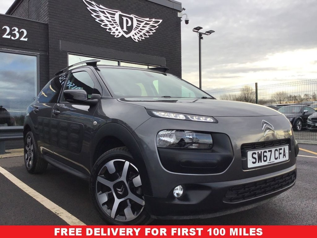 USED 2017 67 CITROEN C4 CACTUS 1.2 PURETECH FLAIR 5d 80 BHP FULL VALET, MOT, SERVICE AND WARRANTY INC - 7 DAYS MONEY BACK GUARANTEE - FREE DELIVERY - FINANCE RATES FROM 5.9%*