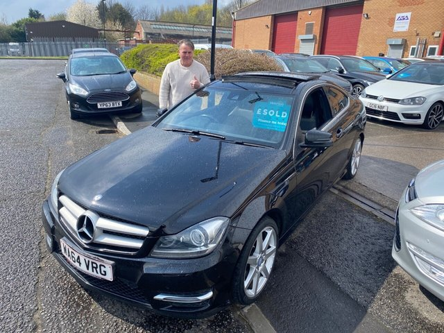 2014 64 MERCEDES-BENZ C-CLASS 2.1 C250 CDI AMG SPORT EDITION PREMIUM PLUS 2d 202 BHP PAN ROOF REVERSE CAMERAS SAT NAV LOW MILEAGE SOLD TO PHILLIP FROM SHEFFIELD