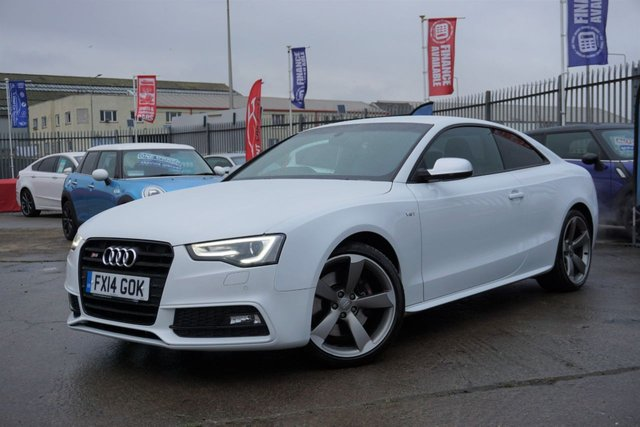 USED 2014 14 AUDI A5 3.0 S5 TFSI QUATTRO BLACK EDITION 2d 329 BHP GREAT EXAMPLE STUNNING AUDI SERVICE HISTORY