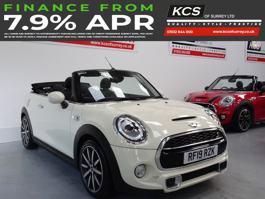USED 2019 19 MINI CONVERTIBLE 2.0 COOPER S EXCLUSIVE 2d 190 BHP CHILI - HTD LEATHER - CAMERA