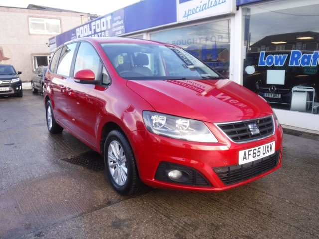 USED 2015 65 SEAT ALHAMBRA 2.0 TDI ECOMOTIVE S 5d 150 BHP *** FINANCE & PART EXCHANGE WELCOME *** 7 SEATS 1 OWNER FROM NEW AIR/CON PARKING SENSORS BLUETOOTH PHONE VOICE COMMAND