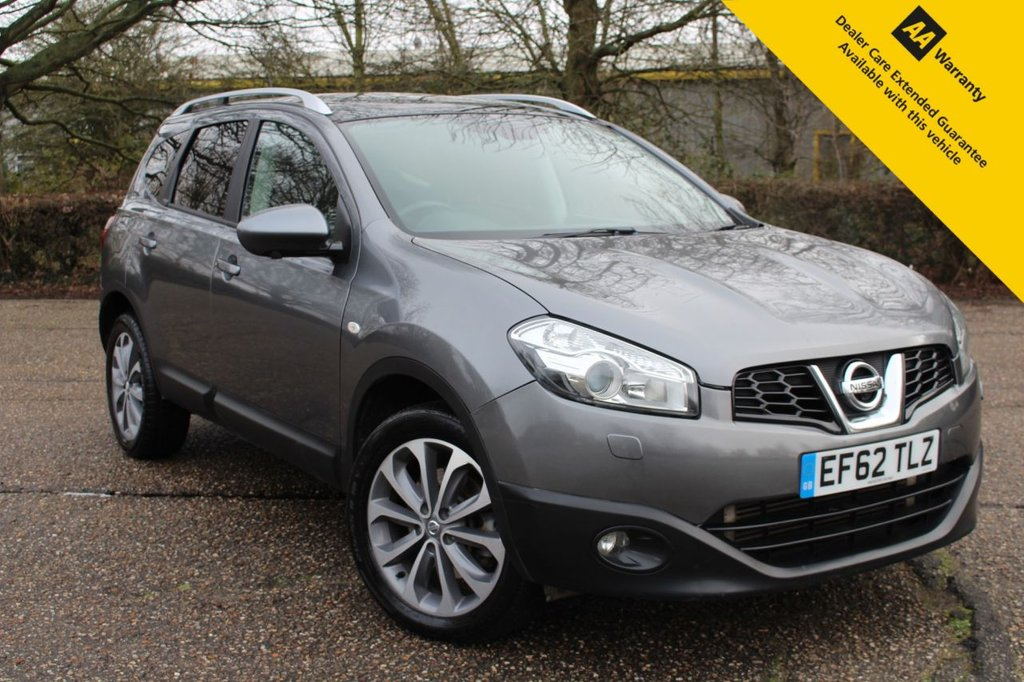 USED 2013 62 NISSAN QASHQAI+2 2.0 DCI TEKNA PLUS 2 5d 148 BHP ** SUPERB RARE QASHQAI 7 SEATER 4X4 AUTO ** FRESHLY SERVICED + LONG MOT - NOV 2021 ** SAT NAV ** CAMERAS ** PANORAMIC GLASS ROOF ** CRUISE CONTROL ** CLIMATE CONTROL ** BLUETOOTH ** AUTO LIGHTS + WIPERS **  CLICK * COLLECT + NATIONWIDE SERVICES AVAILABLE ** CLICK ON BUILD AND SAVE YOUR DEAL TO GET STARTED ** INSTANT PX PRICES - FINANCE TO SUIT ALL BUDGETS **