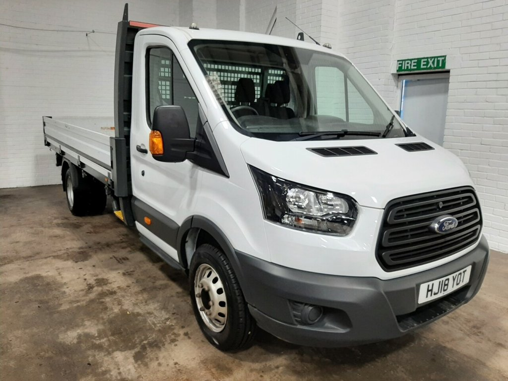USED 2018 18 FORD TRANSIT DROPSIDE 350 L4 RWD 1-Stop 130ps
