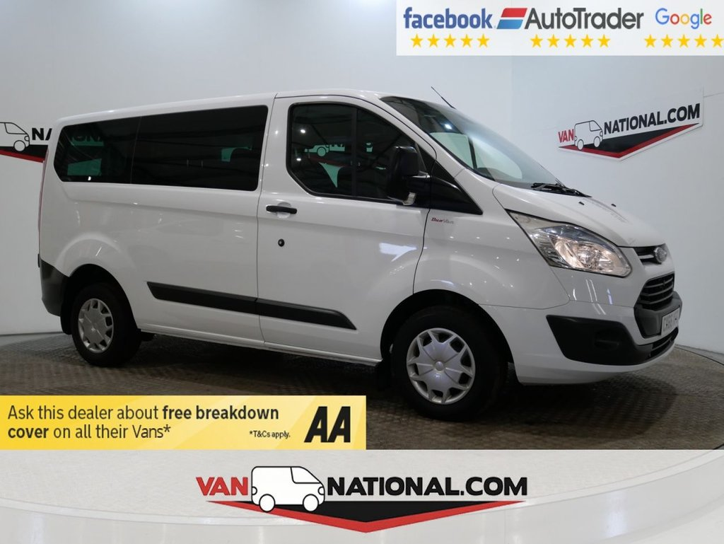 USED 2016 66 FORD TRANSIT CUSTOM 2.2 310 KOMBI TDCI 125 BHP TREND DOUBLE CAB *AIR CON* * 6 SEATS * AIR CON * SENSORS * ZERO DEPOSIT FINANCE AVAILABLE *