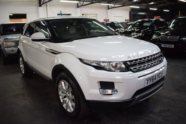 USED 2014 64 LAND ROVER RANGE ROVER EVOQUE 2.2 SD4 PURE TECH 5d 190 BHP 4x4 AUTO  LOVELY CONDITION - ONE PREVIOUS KEEPER - 4X4 - AUTO - 190 BHP - LEATHER - NAV - HEATED SEATS - MERIDIEN SPEAKERS