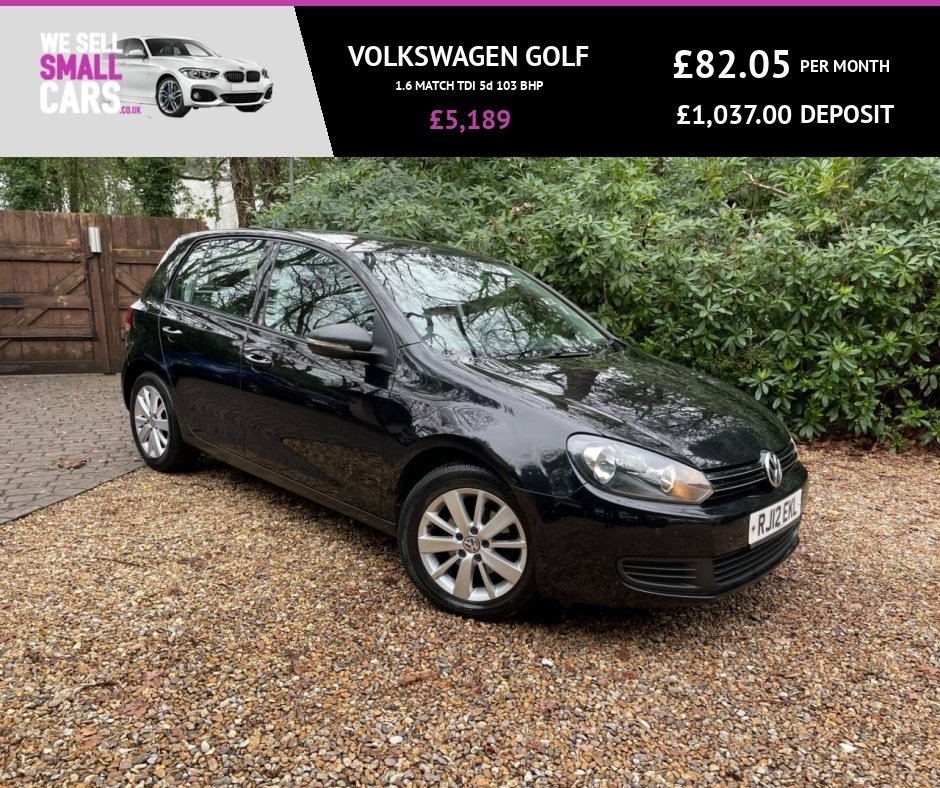 USED 2012 12 VOLKSWAGEN GOLF 1.6 MATCH TDI 5d 103 BHP 3 OWNERS FULL SERVICE HISTORY CAMBELT CHANGE DAB FACTORYBLUETOOTH