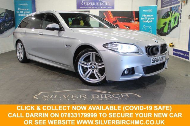 USED 2014 64 BMW 5 SERIES 2.0 520D M SPORT TOURING 5d 181 BHP £5800 0f Extra Specification