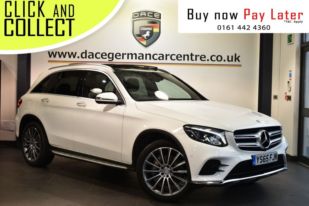 USED 2016 65 MERCEDES-BENZ GLC-CLASS 2.1 GLC 250 D 4MATIC AMG LINE PREMIUM 5DR AUTO 201 BHP Finished in a stunning Polar white styled with 20 inch AMG alloy wheels. Upon entry you are presented with full black leather interior, full service history, glass panoramic sunoof, bluetooth, cruise control, DAB radio, heated front seats, seat memory function, sports suspension, rain sensors, electric folding door mirrors, privacy glass, keyless go/start, ambient illumination, AMG styling package, air conditioning, climate control