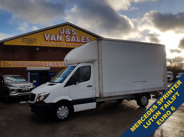 USED 2017 67 MERCEDES-BENZ SPRINTER LUTON TAILIFT TOP FLAP BIGGER 316 BHP 1 OWNER BIG STOCK EURO 5/6 OVER VANS OVER 100 ON SITE