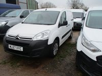 USED 2017 67 CITROEN BERLINGO 1.6 850 ENTERPRISE L1 BLUEHDI 5d 100 BHP 2017 67 Citroen Berlingo a/c lec pack turbo diesel side load door comes with long mot and warranty cover