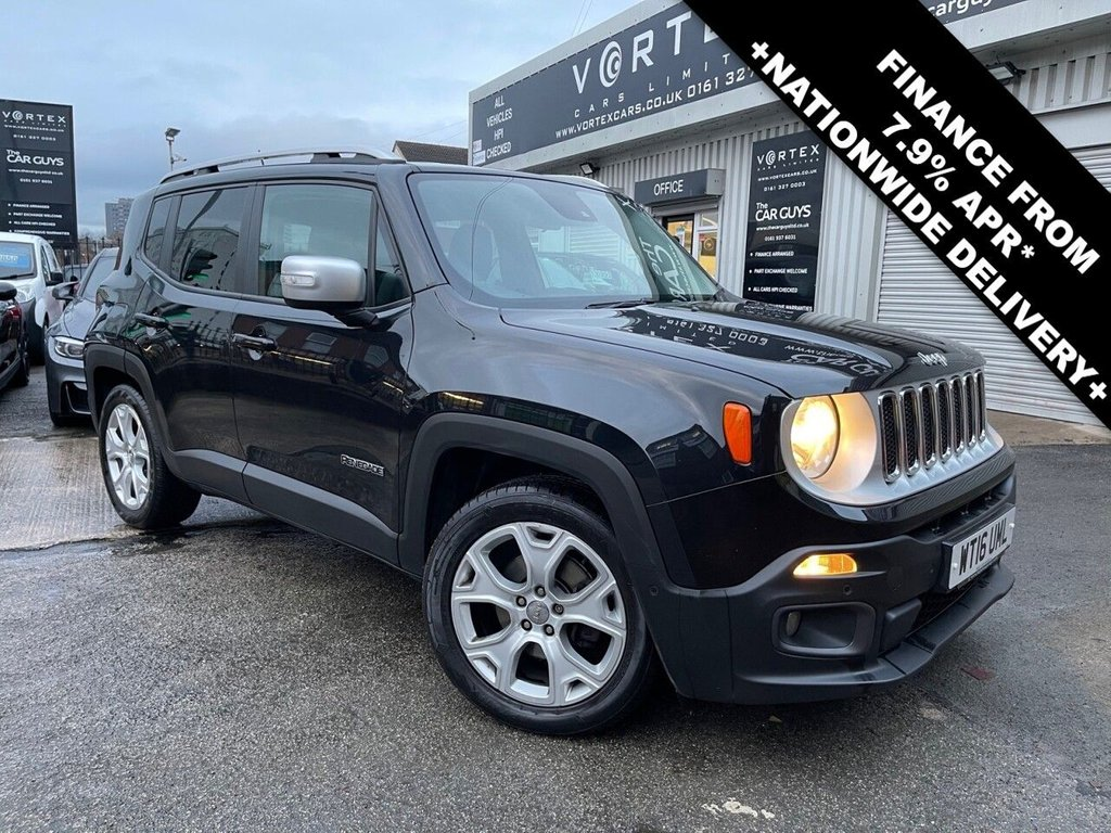 USED 2016 16 JEEP RENEGADE 1.6 M-JET LIMITED 5d 118 BHP
