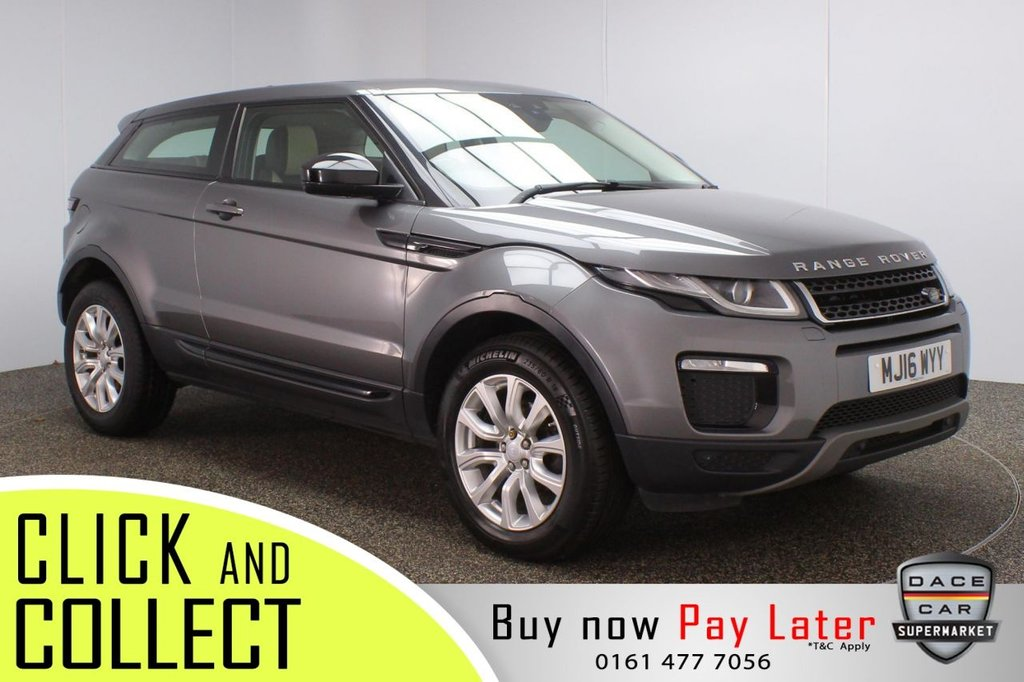 USED 2016 16 LAND ROVER RANGE ROVER EVOQUE 2.0 ED4 SE TECH 3DR 148 BHP + SAT NAV + LEATHER FULL SERVICE HISTORY + £20 12 MONTHS ROAD TAX + HEATED LEATHER SEATS + SATELLITE NAVIGATION + PARKING SENSOR + BLUETOOTH + CRUISE CONTROL + CLIMATE CONTROL + MULTI FUNCTION WHEEL + XENON HEADLIGHTS + ELECTRIC/MEMORY FRONT SEATS + DAB RADIO + ELECTRIC WINDOWS + ELECTRIC/HEATED/FOLDING DOOR MIRRORS + ALLOY WHEELS