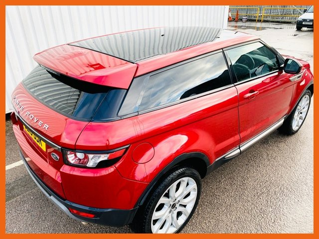 "USED 2015 15 LAND ROVER RANGE ROVER EVOQUE 2.2 SD4 PURE TECH 3d 190 BHP LAND ROVER SERVICE HISTORY - 12 MONTH MOT - PANORAMIC GLASS ROOF - AMBIENT MOOD LIGHTING - 20"" DYNAMIC ALLOY WHEELS - HEATED LEATHER SEATS - MERIDIAN SPEAKERS - CRUISE CONTROL - BLUETOOTH - PARKING SENSORS FRONT AND REAR - FRONT FOG LIGHTS - 2 KEYS"