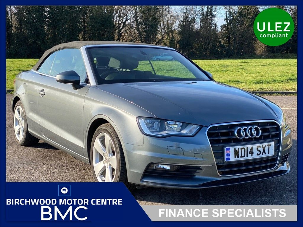 USED 2014 14 AUDI A3 2.0 TDI SPORT 2d 148 BHP. Ulez Compliant, LOW MILEAGE, 44,640m With FSH, FULL LEATHER TRIM, 6-SPEED DIESEL CONVERTIBLE