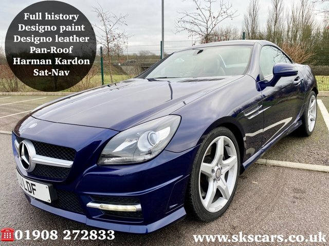 2013 62 MERCEDES-BENZ SLK 1.8 SLK200 BLUEEFFICIENCY AMG SPORT 2d 184 BHP