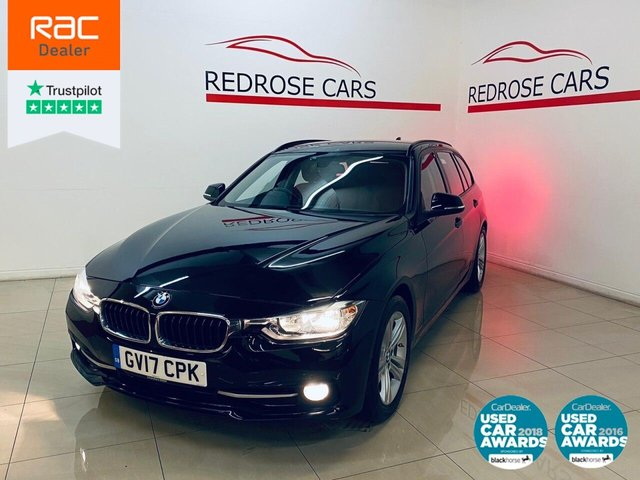 USED 2017 17 BMW 3 SERIES 2.0 320D ED SPORT TOURING 5d 161 BHP 1 OWNER, BLUETOOTH, NICE CAR