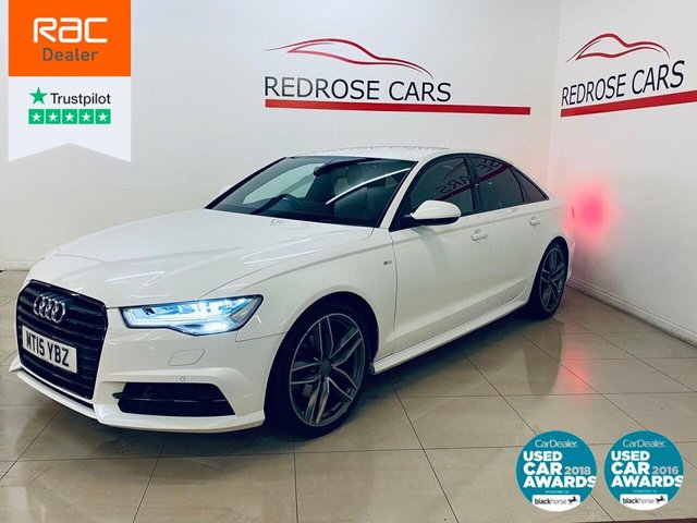 USED 2015 15 AUDI A6 2.0 TDI ULTRA BLACK EDITION 4d 188 BHP 2 KEYS, SAT NAV, NICE CAR