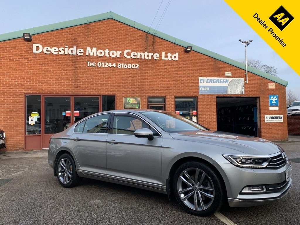 USED 2015 64 VOLKSWAGEN PASSAT 2.0 GT TDI BLUEMOTION TECHNOLOGY DSG 4d 188 BHP VW service history : Bluetooth : Sat Nav : DAB : Leather upholstery : Heated front seats : Heated steering wheel : VW Blind-Spot information system : Optional paddleshift controls : VW Driving modes - Normal/Sport/Eco/Individual : Front + rear parking sensors