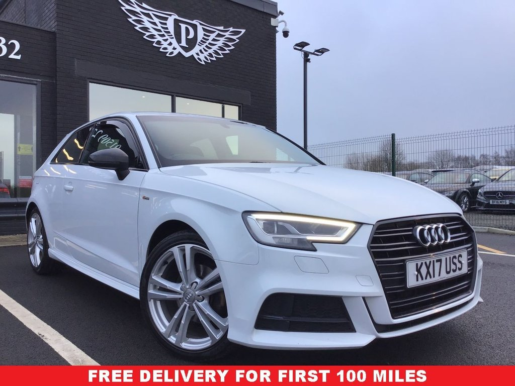 USED 2017 17 AUDI A3 2.0 TDI S LINE 3d 148 BHP 14 DAY MONEY BACK GUARANTE*