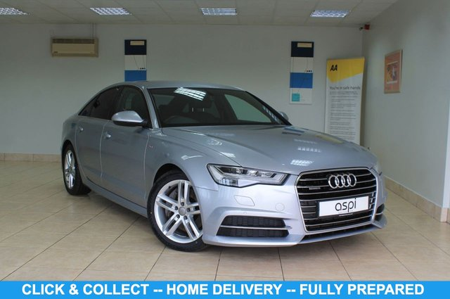 """USED 2016 16 AUDI A6 3.0TDI QUATTRO S LINE 5d 268 BHP BLACK LEATHER, FRONT & REAR PARKING SENSORS, REAR PRIVACY GLASS, ELECTRIC FOLDING MIRRORS, XENONS, LUMBAR SUPPORT, AUDI MUSIC INTERFACE, HEATED FRONT SEATS, MULTI FUNCTION STEERING WHEEL, CRUISE CONTROL, LOW MILEAGE, SATELLITE NAVIGATION, BLUETOOTH, AUDI MULTI MEDIA, PADDLE SHIFT, VOICE GUIDANCE, AIR CONDITIONING GLOVE BOX, 18"""" ALLOY WHEELS"""