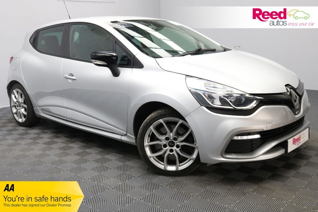"""USED 2014 14 RENAULT CLIO 1.6 RENAULTSPORT LUX 5d 200 BHP NAV+LOW MILEAGE+7''TOUCHSCREEN+17""""ALLOYS+BTOOTH+CRUISE/CLIMATE CON"""