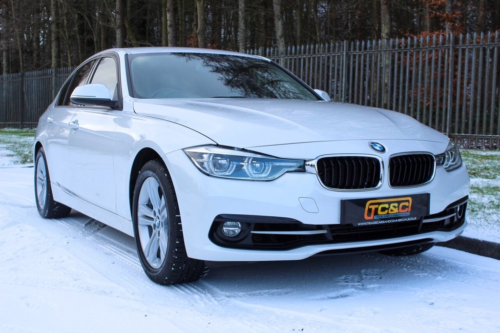 USED 2017 67 BMW 3 SERIES 1.5 318I SPORT 4d 135 BHP A STUNNING ONE OWNER MINERAL WHITE 3 SERIES WITH BMW MAIN DEALER SERVICE HISTORY!!!
