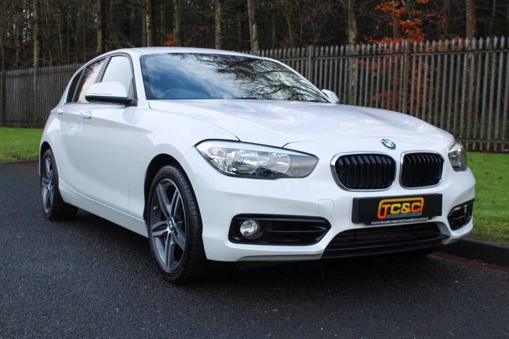 USED 2017 17 BMW 1 SERIES 2.0 120D XDRIVE SPORT 5d 188 BHP A STUNNING METALLIC WHITE XDRIVE 1 SERIES WHICH HAS ONLY HAD ONE OWNER AND COMES WITH BMW SERVICE HISTORY!!!