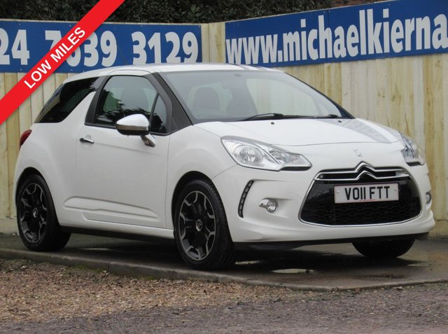 USED 2011 11 CITROEN DS3 1.6 BLACK AND WHITE 3d 120 BHP NICE LOW MILES