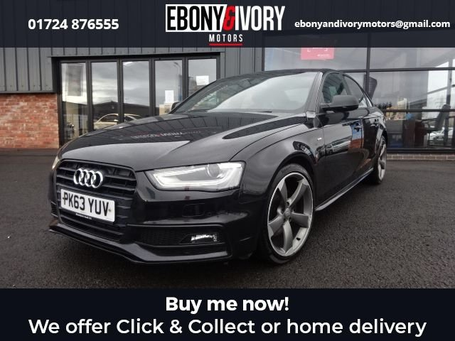 USED 2013 63 AUDI A4 2.0 TDI BLACK EDITION 4d 174 BHP+FULL AUDI SERVICE HISTORY FULL AUDI SERVICE HISTORY + 1 YEAR MOT AND BREAKDOWN COVER