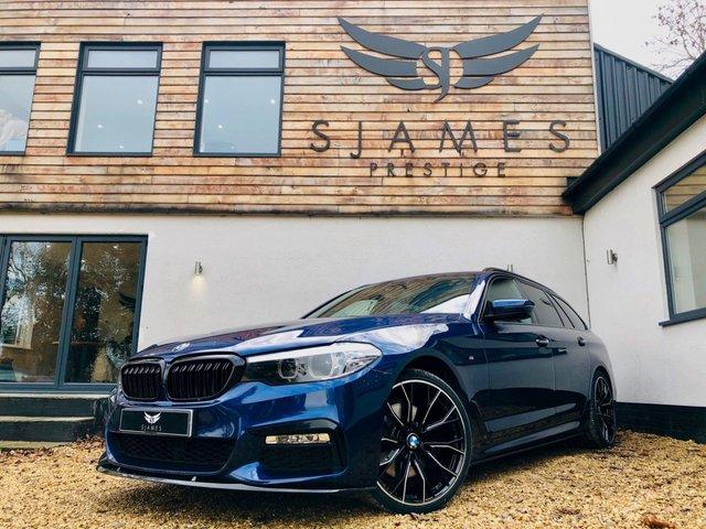 2018 18 BMW 5 SERIES 2.0 520D M SPORT TOURING 5d AUTO 188 BHP