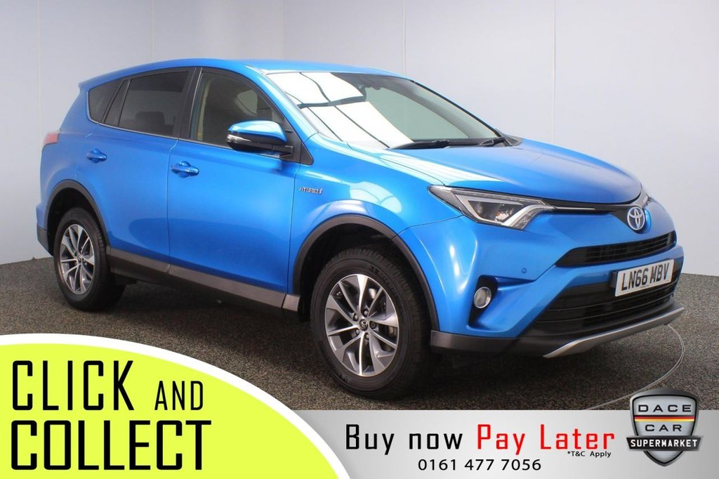 USED 2016 66 TOYOTA RAV4 2.5 VVT-I BUSINESS EDITION PLUS 5DR AUTO 197 BHP + 1 OWNER + FULL SERVICE HISTORY FULL SERVICE HISTORY + £30 12 MONTHS ROAD TAX + SATELLITE NAVIGATION + PARKING SENSOR + BLUETOOTH + CRUISE CONTROL + CLIMATE CONTROL + MULTI FUNCTION WHEEL + LED HEADLIGHTS + PRIVACY GLASS + DAB RADIO + USB PORT + ELECTRIC WINDOWS + ELECTRIC/HEATED DOOR MIRRORS + 17 INCH ALLOY WHEELS
