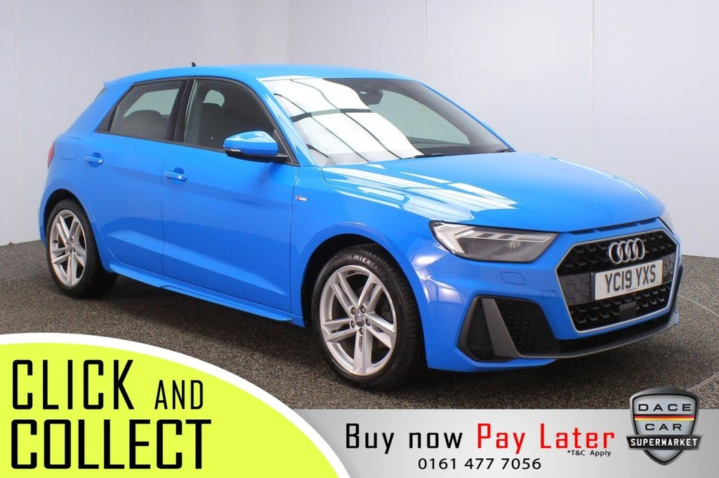 USED 2019 19 AUDI A1 1.0 SPORTBACK TFSI S LINE ( TECH PACK ) 5DR 114 BHP + VIRTUAL COCKPIT  FULL SERVICE HISTORY + HALF LEATHER SEATS + VIRTUAL COCKPIT + SATELLITE NAVIGATION + PARKING SENSOR + LANE ASSIST SYSTEM + BLUETOOTH + CRUISE CONTROL + MULTI FUNCTION WHEEL + AIR CONDITIONING + LED HEADLIGHTS + DAB RADIO + AUX/USB/SD PORT + ELECTRIC WINDOWS + ELECTRIC/HEATED/FOLDING DOOR MIRRORS + 17 INCH ALLOY WHEELS