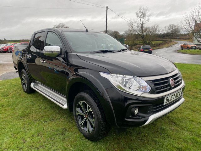 USED 2017 67 FIAT FULLBACK 2.4 LX DCB 180 BHP 4X4 PLUS VAT 1 OWNER NAV LEATHER CAMERA LOAD COVER