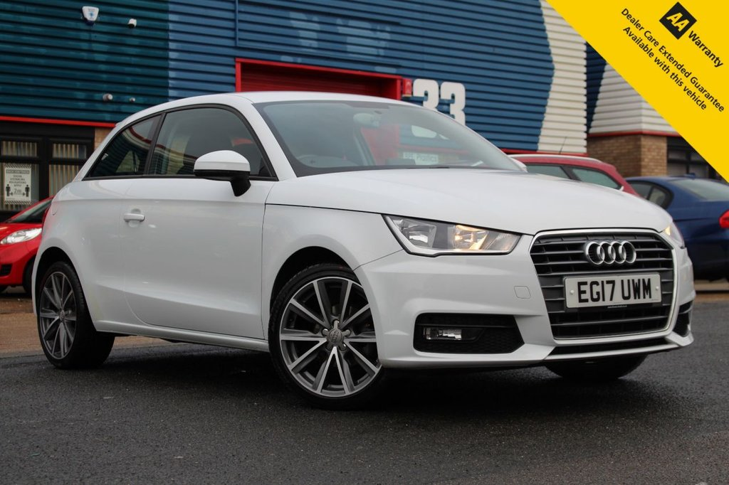 """USED 2017 17 AUDI A1 1.0 TFSI SPORT 3d 93 BHP ** 1 OWNER FROM NEW ** BRAND NEW SERVICE + MOT ** UPGRADED REAR PARKING AID ** UPGRADED 17"""" ALLOYS ** BLUETOOTH ** DAB RADIO ** HALF LEATHER INTERIOR ** SAT NAV SD CARD READY ** AUDI MUSIC INTERFACE ** ULEZ EXEMPT ** CLICK & COLLECT + NATIONWIDE DELIVERY AVAILABLE ** BUY ONLINE IN CONFIDENCE FROM A MULTI AWARD WINNING 5* RATED DEALER **"""