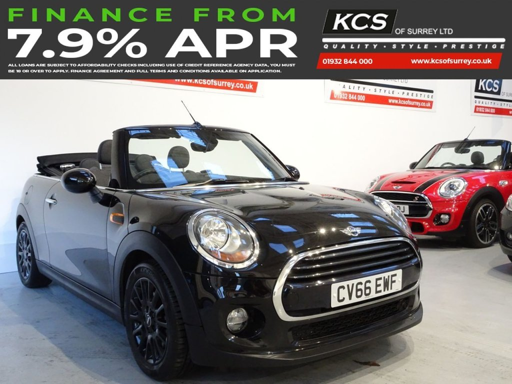 USED 2016 66 MINI CONVERTIBLE 1.5 COOPER 2d 134 BHP HEATED SPORTS SEATS - CAMERA