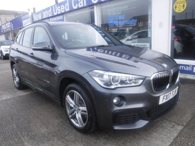 USED 2017 17 BMW X1 2.0 XDRIVE25D M SPORT 5d 228 BHP *1 OWNER FROM NEW*SAT NAV* FULL LEATHER*CRUISE CONTROL*XDRIVE*AUTOMATIC *